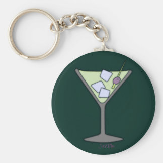 Martini Quick Lime Keychain