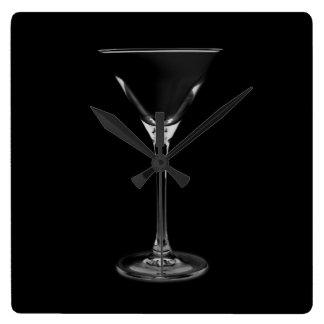 martini square wall clock
