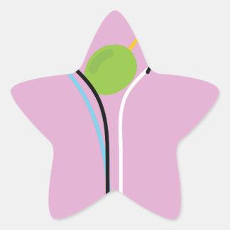 Martini Star Sticker