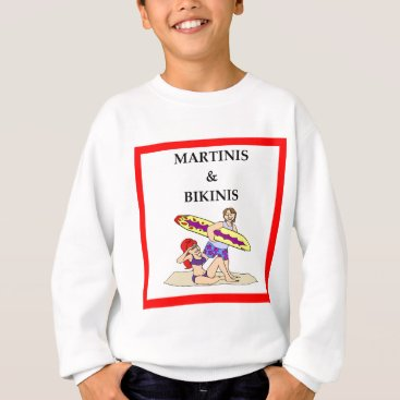 Beach Themed MARTINI SWEATSHIRT