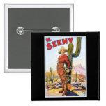 Martini Szeny ~ Vintage Cowboy Wonder Magic Act Pinback Button