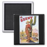 Martini Szeny ~ Vintage Cowboy Wonder Magic Act Refrigerator Magnets