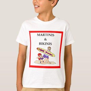 Beach Themed MARTINI T-Shirt
