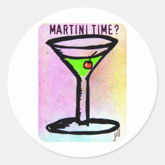 MARTINI TIME APPLETINI PASTEL PRINT by jill Classic Round Sticker