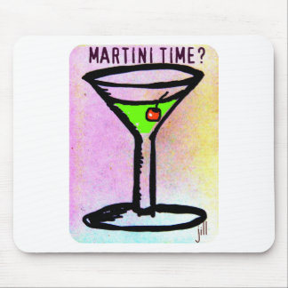 MARTINI TIME APPLETINI PASTEL PRINT by jill Mouse Pad