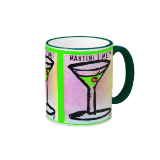 MARTINI TIME APPLETINI PASTEL PRINT by jill Ringer Mug