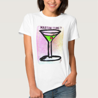 MARTINI TIME APPLETINI PASTEL PRINT by jill Tee Shirt