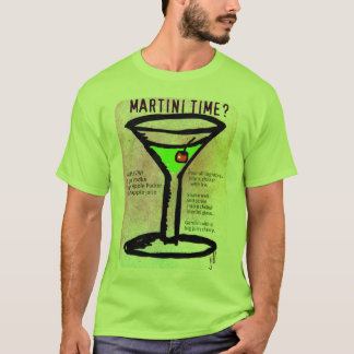 MARTINI TIME APPLETINI PASTEL PRINT with RECIPE by T-Shirt