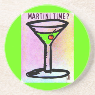 MARTINI TIME? APPLETINI PRINT COASTER