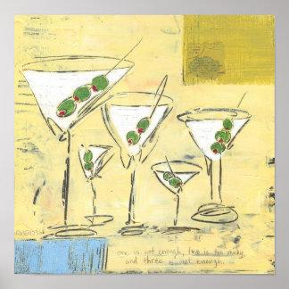 Martini Time - Cocktail Art Prints - Dan Robertson Poster