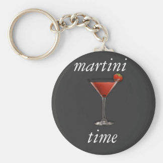 Martini time keychain