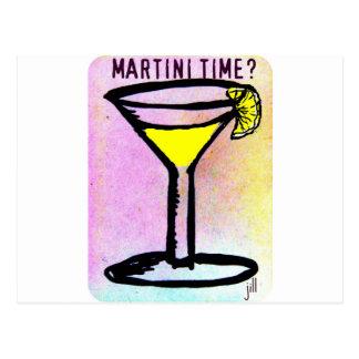MARTINI TIME LEMON DROP PASTEL PRINT by Jill Postcard