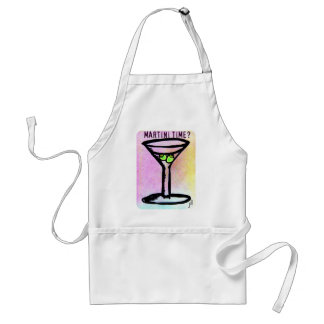 MARTINI TIME PASTEL PRINT by jill Adult Apron