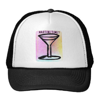 MARTINI TIME PASTEL PRINT TRUCKER HAT