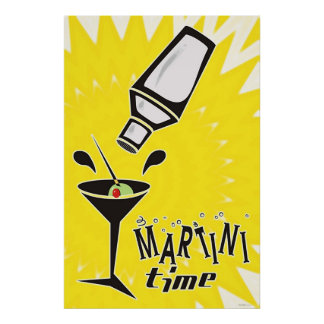 Martini Time Poster