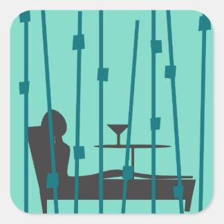 Martini Time Square Sticker