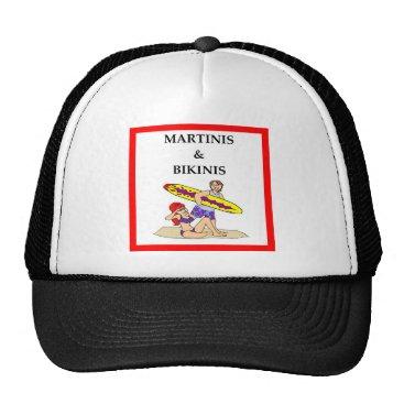 Beach Themed MARTINI TRUCKER HAT