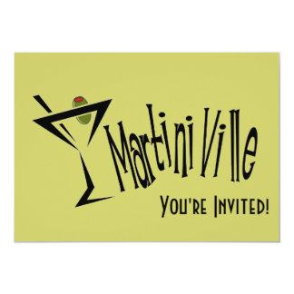 Martini Ville 5x7 Paper Invitation Card