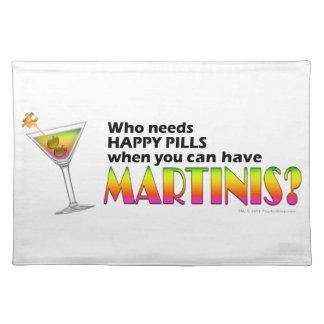 MARTINI vs. HAPPY PILLS PLACEMAT
