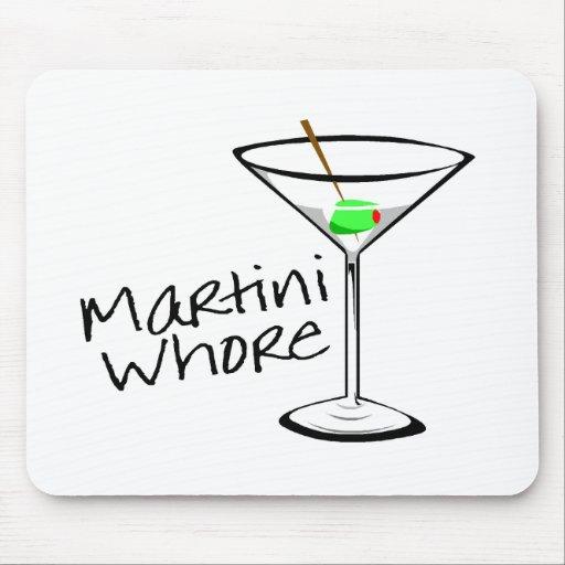 Martini Whore Mouse Pad