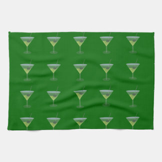Martini With Olive Hand Towels
