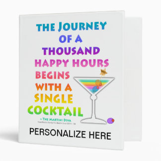 MARTINI ZEN Cocktail Recipes Binder - Journey