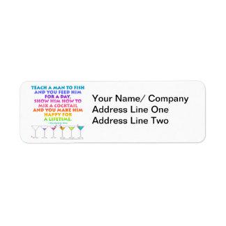 MARTINI ZEN - Happy for a Lifetime Avery Label Return Address Label