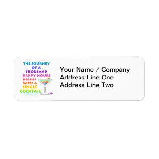 MARTINI ZEN - Happy Hour Journey  Avery Label Return Address Label