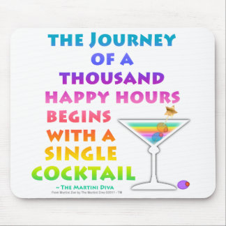 MARTINI ZEN - Happy Hour Journey Mousepad
