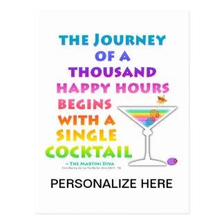 MARTINI ZEN - Happy Hour Journey Postcard