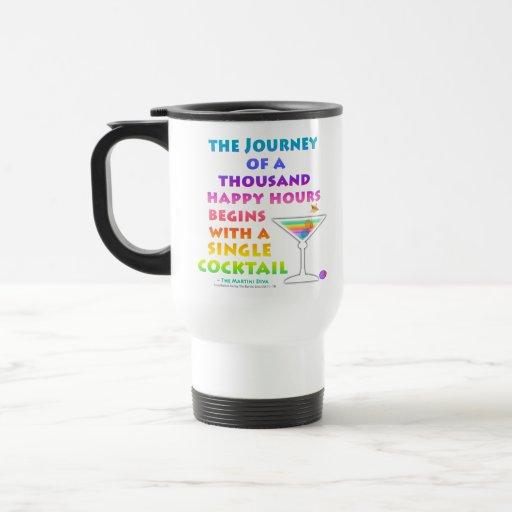 MARTINI ZEN - Happy Hour Journey Travel  Mug