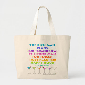 MARTINI ZEN - Plan for Happy Hour Grocery Tote Bag