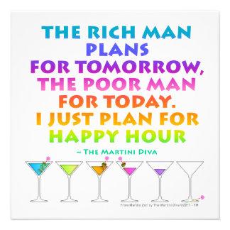 MARTINI ZEN - Plan for Happy Hour Invitation