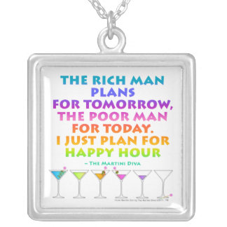 MARTINI ZEN - Plan for Happy Hour Necklace