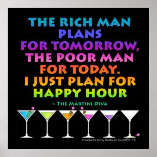 MARTINI ZEN - Plan for Happy Hour Posters Print