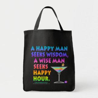 MARTINI ZEN: Wise Man Seeks Happy Hour  Bag