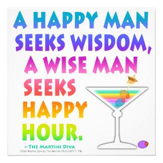 MARTINI ZEN: Wise Man Seeks Happy Hour Invitations