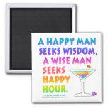 MARTINI ZEN: Wise Man Seeks Happy Hour Magnet