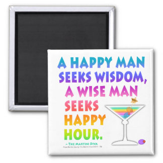 MARTINI ZEN: Wise Man Seeks Happy Hour Magnet