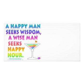 MARTINI ZEN: Wise Man Seeks Happy Hour  Photo Card