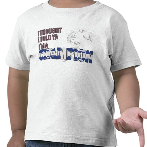 Martinica y un campeón camisetas