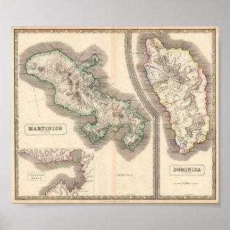 Martinico - Dominica Póster