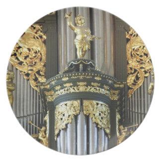 Martinikerk, placa de cena del órgano de Groninga Plato De Cena
