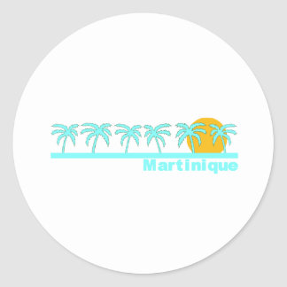 Martinique Classic Round Sticker