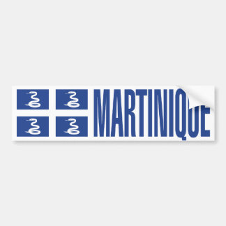 Martinique Flag Car Bumper Sticker