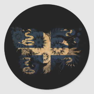 Martinique Flag Classic Round Sticker