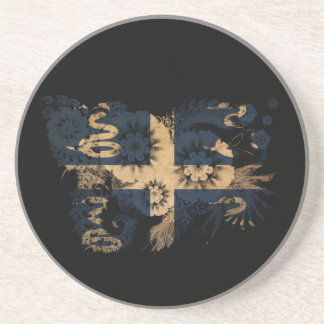 Martinique Flag Drink Coasters