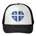 Martinique Flag Heart Trucker Hat