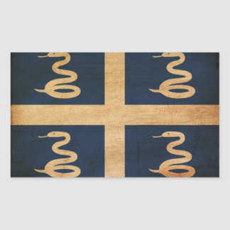 Martinique Flag Rectangular Sticker
