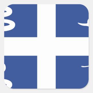 Martinique Flag Square Sticker